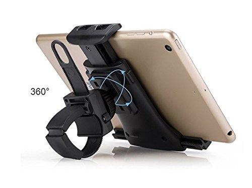New Tablet Smartphone Mount Holder for Indoor Bicycle, Car, Stroller, Golf Cart, Shopping Cart, Camping, Desktop, Gym, Exercise Bike, Elliptical - Any Handlebar Normal Handlebar BHD050