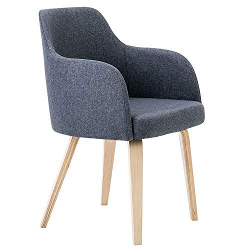 ALY Chaise en Bois Massif à Manger Chaise européenne Loisirs Chaise Ergonomique Design Fauteuil Moderne adapté pour Chambre Salon Salon Bureau Restaurant