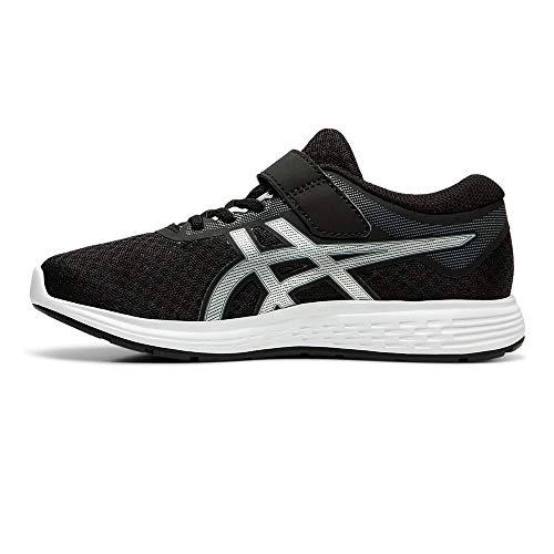 Asics Patriot 11 Ps, Unisex Kid's Running Shoes, Black (Black/Silver 002), 12 Child UK (31.5 EU)
