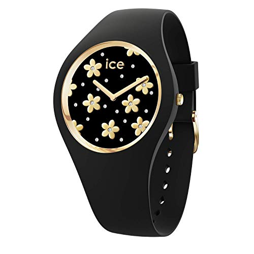 Ice-Watch ICE Flower Precious Black, Orologio Nero da Donna con Cinturino in Silicone, 016668, Medium (40 mm)