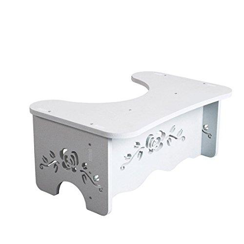 トイレ踏み台 洋式トイレ足置き台 安全補助踏み台 子供トイレトレーニング トイレステップ 組み立て式 省スペース (A)