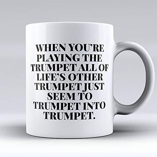 N\A Trompete Kaffeetasse - Trompete Kaffeetasse - Lustiges Geschenk für Trompeter - Trompete in Trompete Trompeter - 11oz