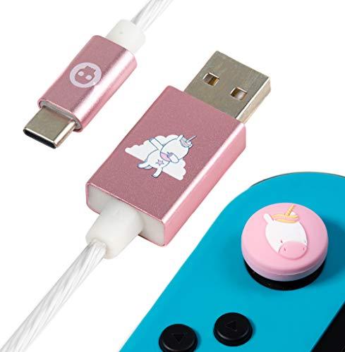 Numskull Unicorn USB Type C LED Cable 1.5M Fast USB-C Charging Lead...