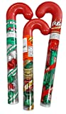 Three Chocolate Candy Filled Plastic Candy Canes- Hershey Kisses, Reese's Peanut Butter Cup and Kit Kats…Stocking Stuffer Bundle of 3 items