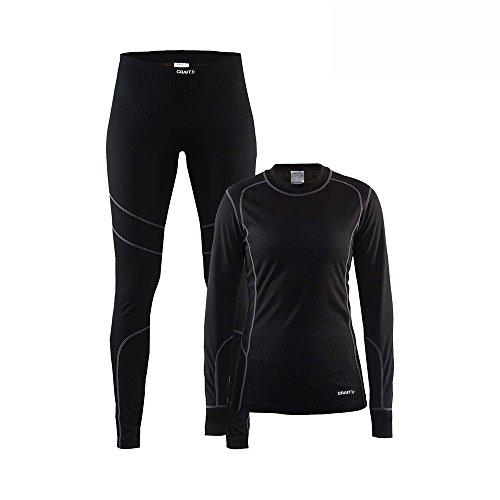 Craft CR1905331 Maillot Plus Pantalon Femme, Noir/Granite, FR : S (Taille Fabricant : 36)