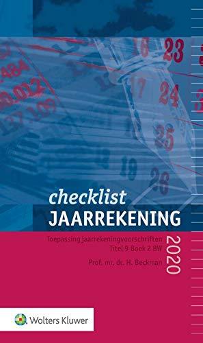 Checklist jaarrekening 2020