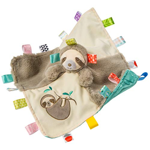 Taggies Soothing Sensory Stuffed Animal Security Blanket Molasses Sloth 13 x 13Inches