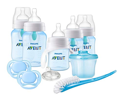 Buy Bargain Philips Avent Anti-colic Baby Bottle with AirFree vent Beginner Gift Set Blue, SCD393/05