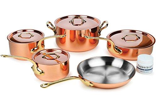 Mauviel M'heritage M250B 9-piece 2.5mm Copper Cookware Set...