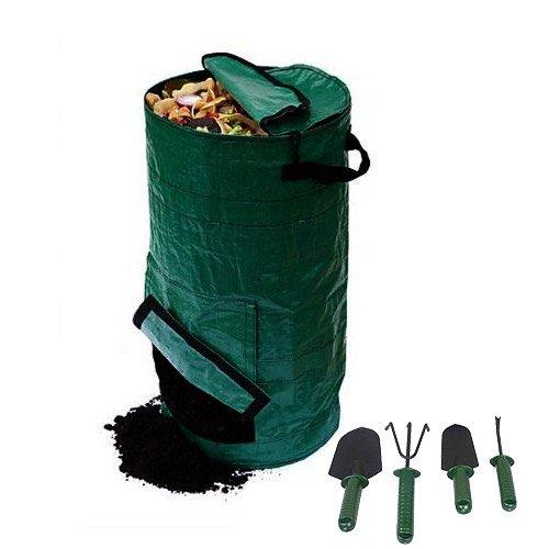 Sac de compostage sous évier pour fruits de cuisine - Fermentation des déchets - 127 litres - Avec râteau