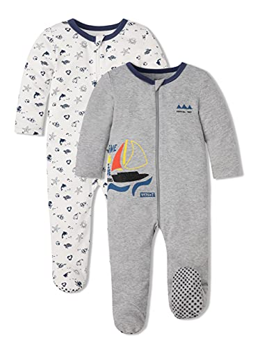 Froerley Pijama Bebe Algodon, Pijamas Bebe Niño, Pijama Bebe 18 meses Verano Nino, Pijama Familiar, Ropa Bebe Niño, Pack de 2