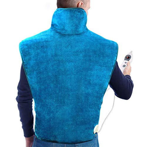 Hot Compress Massage Shawl, Relieve Back, Neck, Shoulder Pain, Electric Heating Wrap Back Warmer with 6 Heating Levels & 2 Hours Auto Shut-Off, Over-Heating Protection