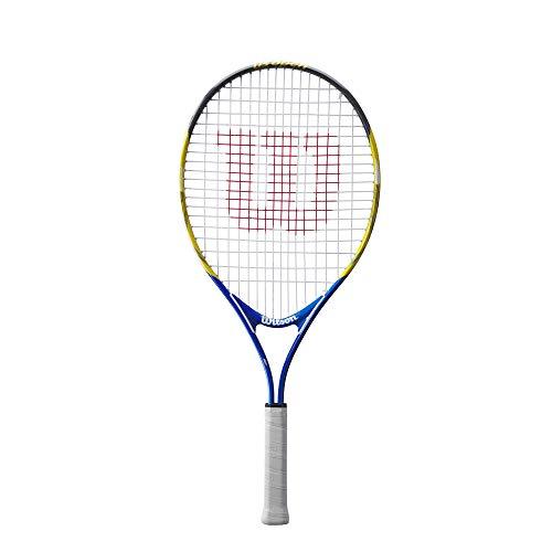 Wilson WRT20300U - Raqueta de tenis, US Open 25, azul / amarilla, para niños