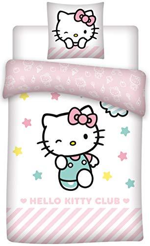 HK Hello Kitty - Parure da Letto, Copripiumino, 1 Piazza