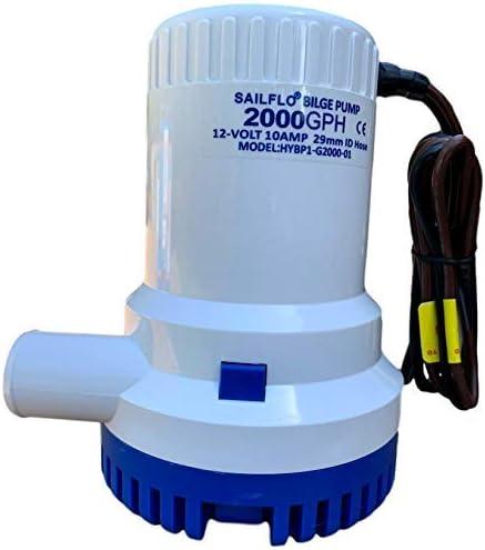 SAILFLO 2000 Max 46% OFF Fort Worth Mall GPH 12v Boat Marine Electric Bilge Plumbing 1 Pump