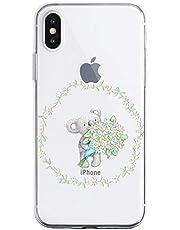 Oihxse Compatible con iPhone 6/iPhone 6S Funda Cristal Silicona TPU Suave Ultra-Delgado Protector Estuche Creativa Patrón Protector Anti-Choque Carcasa Cover(Pereza A3)