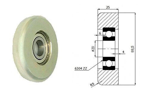 Zabi Metallrollen d=88,5mm für Schiebetore mit Lagerung