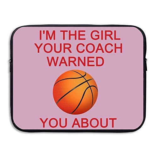 Laptoptasche/Laptoptasche, schlankes Design, Basketball Girl Your Coach Warned Wasserdicht, 13-15 Zoll iPad MacBook Surface Surface, Schwarz (Schwarz) - 6033839702306