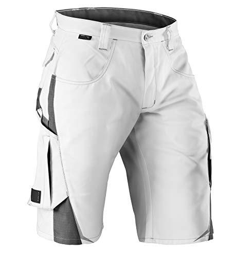 KÜBLER Workwear KÜBLER Pulsschlag Arbeitsshorts weiß, Größe 48, Herren-Arbeitsshorts aus Mischgewebe, robuste Arbeitsshorts
