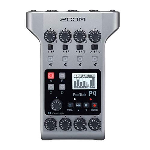 Zoom P4 PodTrack – Audio-Schnittstelle und tragbarer Recorder für Podcast
