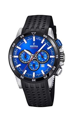 Festina Herren Chronograph Quarz Smart Watch Armbanduhr mit Silikon Armband F20353/2