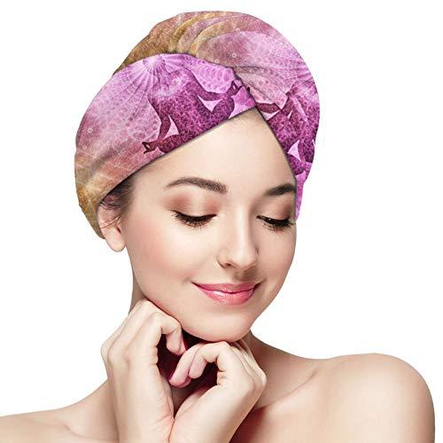 Toalla de secado rápido para el cabello, meditación, espiritualismo, microfibra, superabsorbente, turbante para ducha, spa, sauna, playa, gimnasio