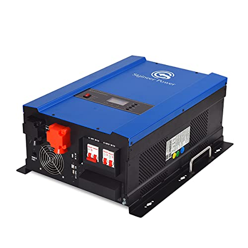 Sigineer Power Solar Inverter,6000W 48V DC to 120V 240V AC Pure Sine Wave Inverter,Built-in 80A MPPT Solar Charge Controller,Split Phase,Low Frequency,for House Off Grid Solar System