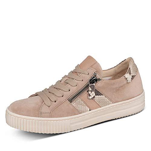 Gabor Damen Sneaker, Frauen Sneaker Low,Wechselfußbett,Best Fitting, schnürer schnürschuh sportschuh Plateau-Sohle,Desert,40 EU / 6.5 UK