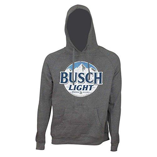BUSCH Licht Runde Logo Bier Pouch Hoodie Große