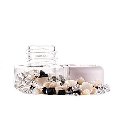 inu! Crystal Jar | YIN YANG +++ Edelsteinglas zur Vitalisierung von Wasser mit Turmalin - Milchopal - Bergkristall