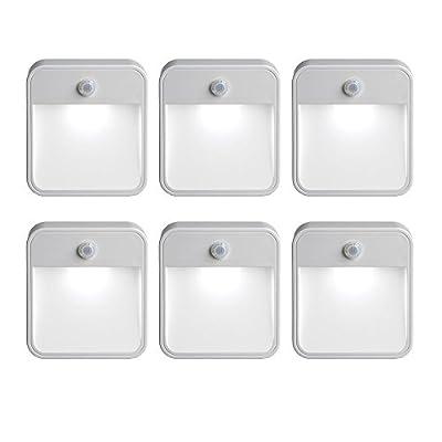 Mr Beams MB726 Battery Powered Motion Sensing LED Nightlight, White, 6-Pack