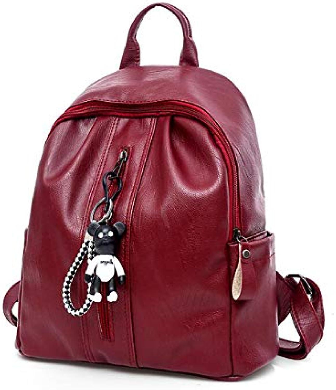 Women's Backpack, Lady Backpack Shoulder Bag Lightweight Simple Big Portable Bag Personalized Travel Bag Waterproof (color   A, Size   31  31  14cm)
