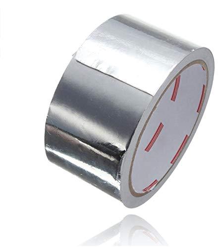 25 Meter Aluminium Klebeband Band als Reperaturband Alu tape hitzebeständig & selbstklebend Aluminiumklebeband (1x)