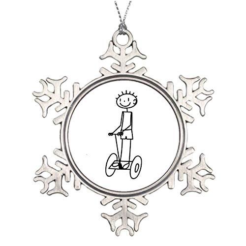 qidushop Adornos de Navidad de metal para vacaciones en Segway Negro copo de nieve Ornamento Artesanía Decoración del árbol de Navidad