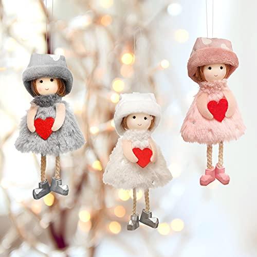 Wikay Christmas Decorations 3 PCS Christmas Plush Dolls Lindo ángel de Navidad Decoraciones navideñas Muñeco de Peluche...