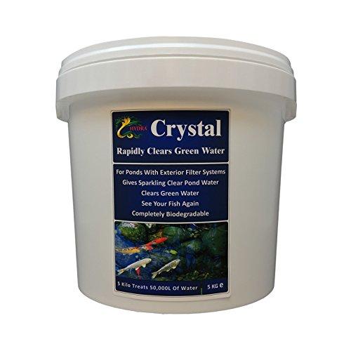 HYDRA CRYSTAL Produit de traitement de l'eau verte de bassin Boîte de 5kg pouvant traiter jusqu'à 50 000 litres