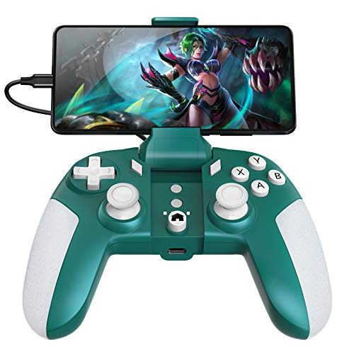 USB C Wired Mobile Game Controller/Emulator & Mobile Game 3 in 1 Gamepad for Android Phone/PC Windows, no Lagging, Built-in 6 Gyro sensors, Asymmetric Motor