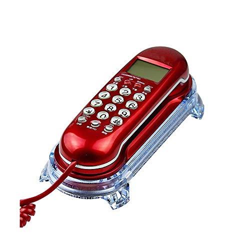YANGYUAN Teléfono Fijo, con Cable de teléfono identificador de Llamadas Pantalla Línea Fija Ministerio del Interior Cable Fijo de Llamadas telefónicas de luz Intermitente