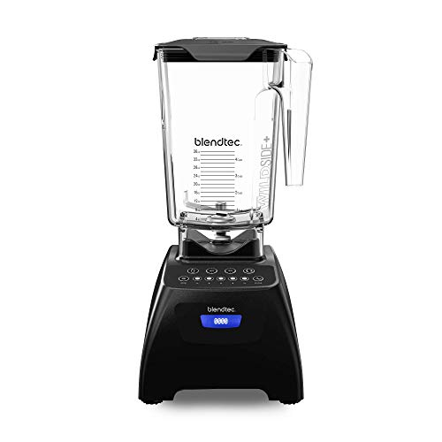 Blendtec Classic 575 Blender - WildSide+ Jar (90 oz) - Professional-Grade Power - Self-Cleaning - 4 Pre-programmed Cycles - 5-Speeds - Black (Renewed)