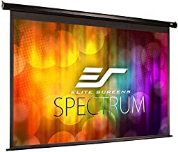 Elite Screens Spectrum Electric Motorized Projector Screen with Multi Aspect Ratio Function Max Size 125-inch Diag 16:9 to 118-inch Diag 2.35:1, Home Theater 8K/4K Ultra HD Ready Projection, ELECTRIC125H
