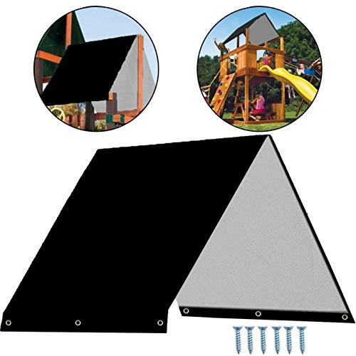 NAA Toldo De Columpio Zona De Juegos Infantil Tela Impermeable, UV Bloqueo De La Sombrilla For Al Aire Libre Porche Patio Paño Repuesto Silla Jardín (Color : Black)
