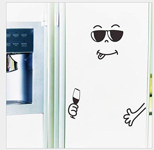 Pegatinas de pared de dormitorio pegatinas divertidas para nevera smiley tallado creativo varias pegatinas de pared sala de estar decoración del dormitorio pegatinas