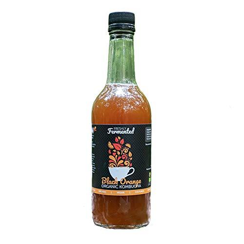 Freshly Fermented – Organic & Vegan Certified Black Orange Kombucha Drink, 6 x 500ml