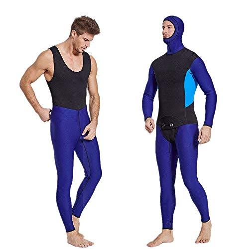 QSFDM Wetsuit Heren 3mm Neopreen Scuba Duiken Wetsuits Tweedelige Hooded Warm Zwemmen Duiken Jumpsuits