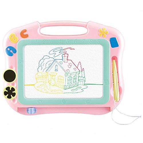 DSZZ Health Writing Tablete Erasable Drawing Board with 4 color areas green Develop Child's Creativity And Imagination for Kids and Adults at Home, School, Office,Pink