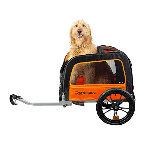 Cheap Retrospec Rover Waggin Pet Bike Trailer, Small and Medium Sized Dogs bicycle carrier,  Foldabl...