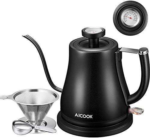 Aicook Elektrisch Wasserkocher Schwanenhals, 800 ml...