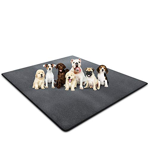 EIGSO Upgrade Heavy Absorbency Non-Slip Washable Dog Pee Pads, Reusable Anti-Tear Dog Training Pads Puppy Whelping Pad for Training,Whelping,Housebreaking, Incontinence, Playpen Crate (7272in)