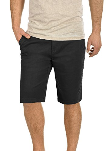 !Solid Lamego Herren Chino Shorts Bermuda Kurze Hose Aus Stretch-Material Regular Fit, Größe:L, Farbe:Black (9000)