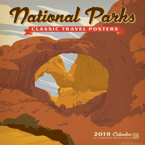 2019 National Parks Classic Travel Posters Wall Calendar